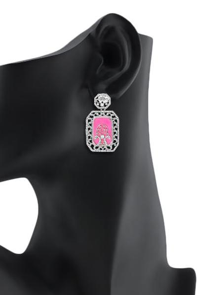 Bo'Bell Fusion Posh Bolly Earring/PINK