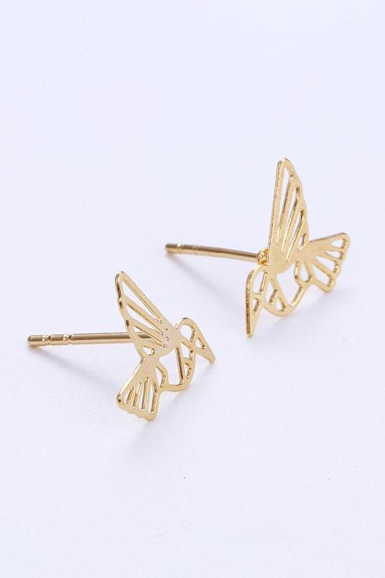 Bo'Bell Sweet Little Bird Free Nature Jewelry Earring/GOLDEN