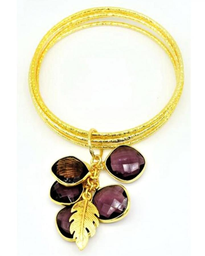Plum Charms Bangle