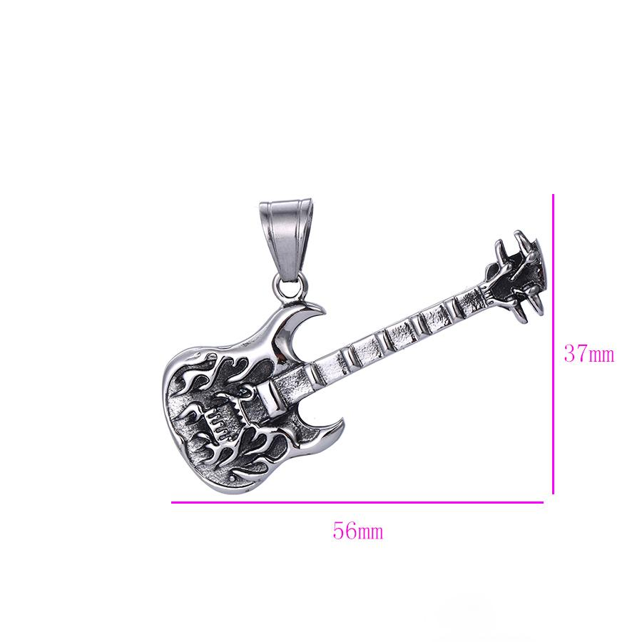 Bo'Bell Funky Chunky Guitar Sterling Silver Men's Pendant/SILVER