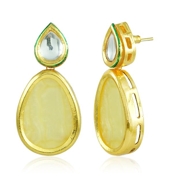 Bo'Bell Indian Bold Boondh Sheet Earring/CREAM