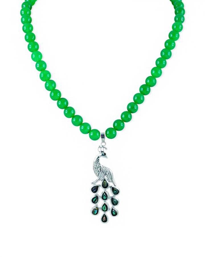 Jade Peacock Pendant....