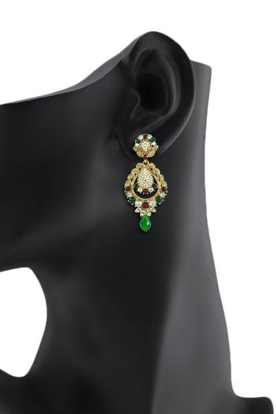 Bo'Bell Adorable Indian Traditional Designer Earring/MULTI