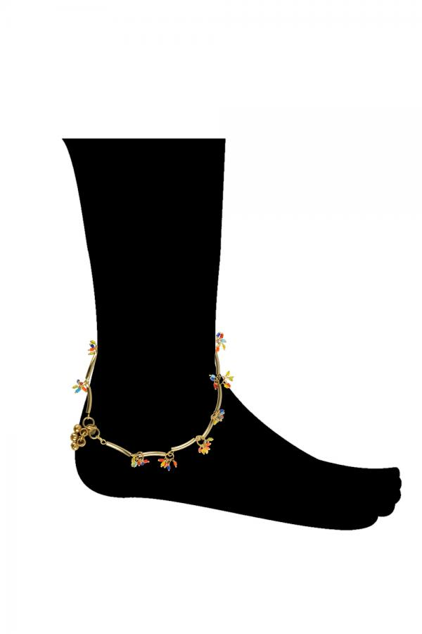 Bo'Bell Flirty Rainbow Colorful Charm Anklet/MULTI