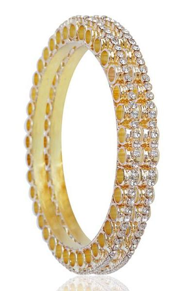 Bo'Bell Exquisite AD Arc Trail Traditional Bangle/GOLDEN