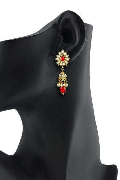 Bo'Bell Flawless Charming Designer Earring/RED