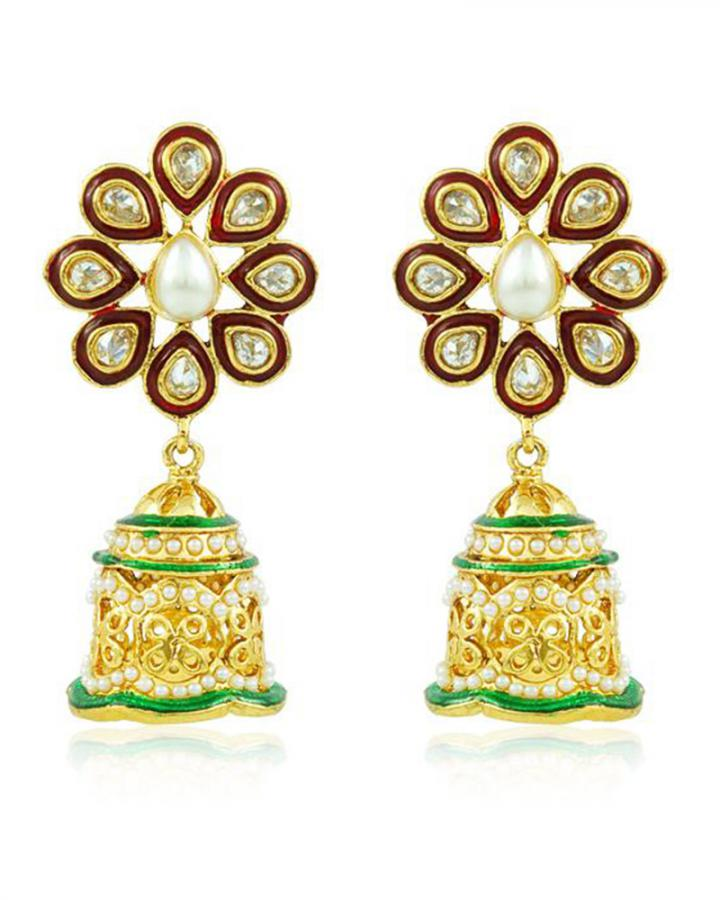 Bo'Bell Graceful Pompon Designer Earring/MULTI
