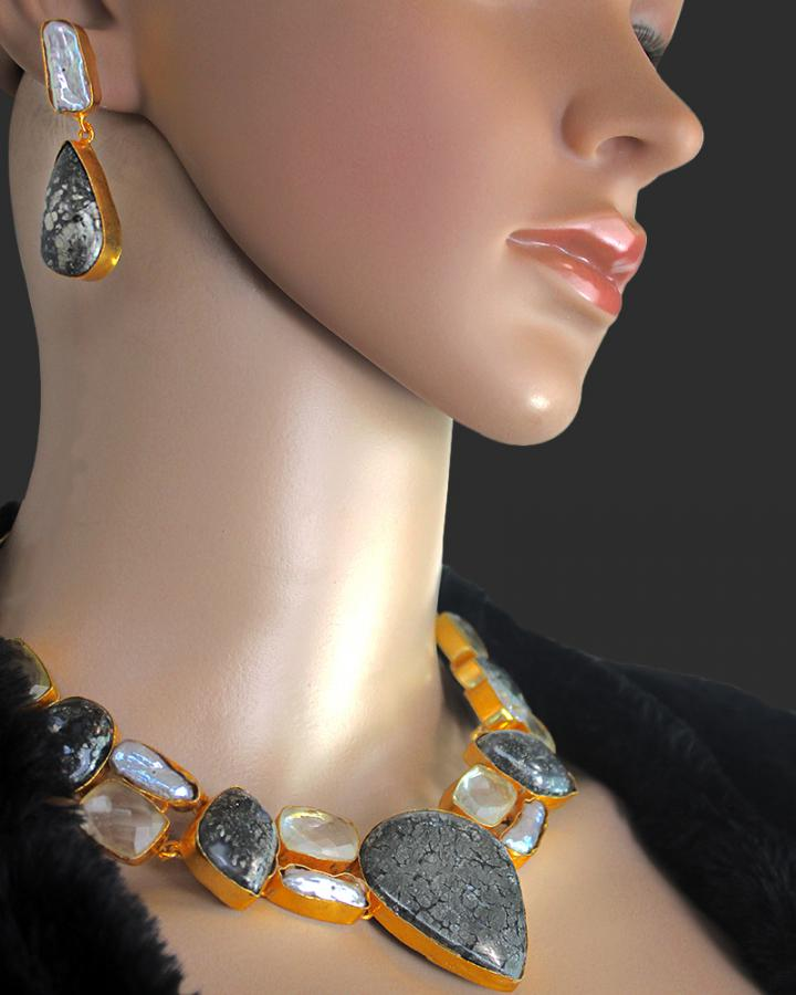 Asher Crown Necklace Set