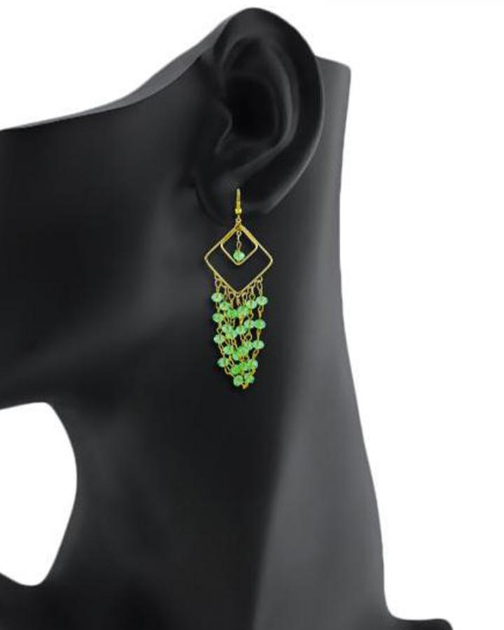 Bo'Bell Trendy Chic Designer Earring/GREEN
