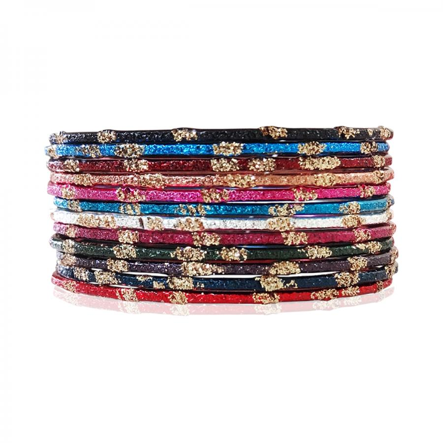 BO'BELL Beautiful Multicolour Bangles (MultiColor)