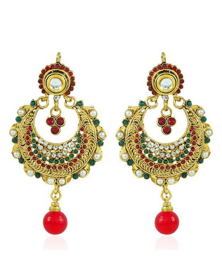 Bo'Bell Exotic Traditional Designer Earring/MULTI