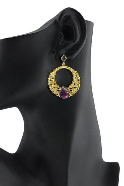 Bo'Bell Ethnic Fusion Designer Earring/MULTI