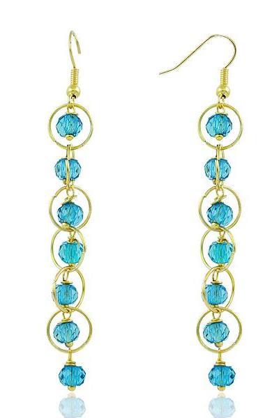 Bo'Bell Elegant Rain Drops Desinger Earring/BLUE