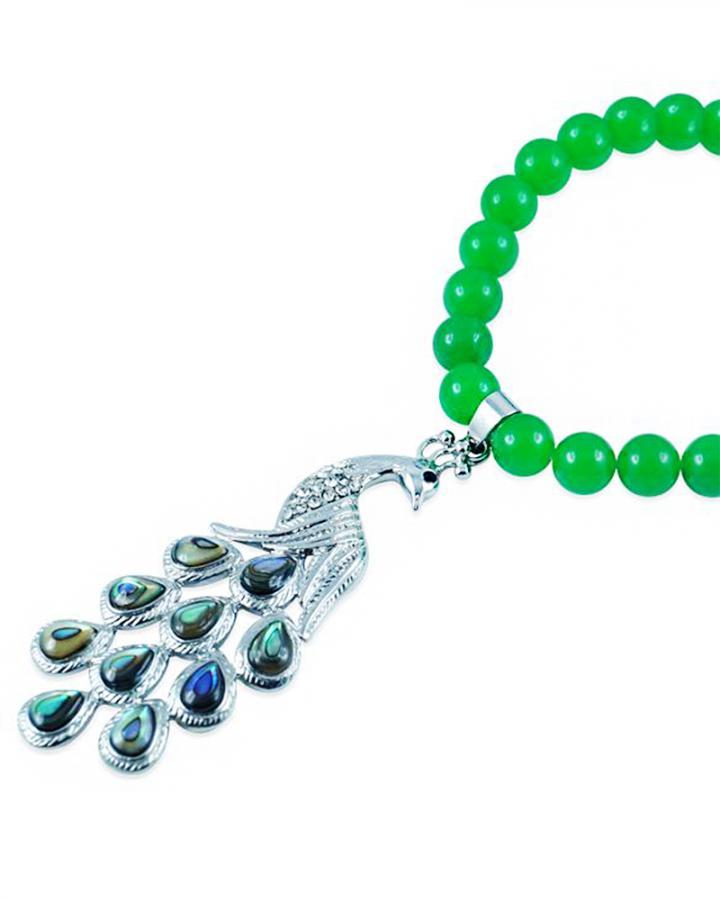 Jade Peacock Pendant