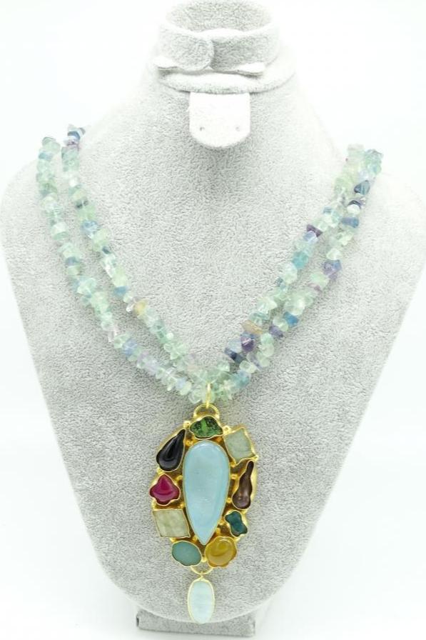 Pristine Aqua Necklace