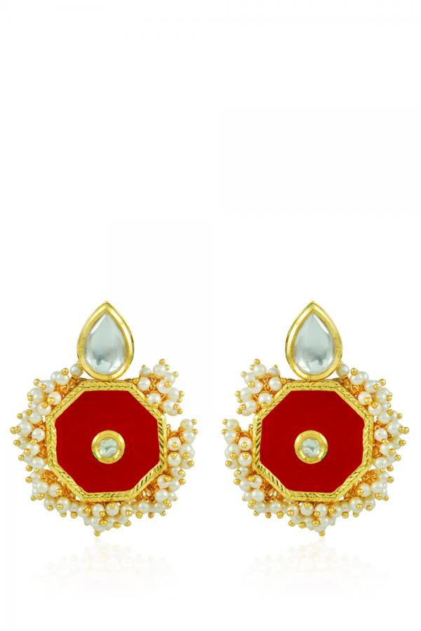 Bo'Bell Elegant Sophisticated Fashionable Necklace Set/RED
