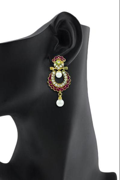 Bo'Bell Flawless Fashionable Indian Designer Earring/MULTI