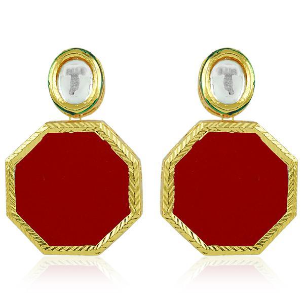 Bo'Bell Delicate Sweet Hexagon Sheet Fusion Earring